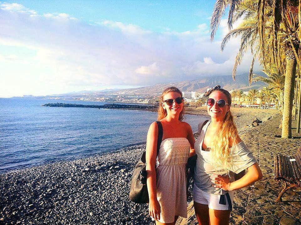 en la Playa de Tenerife