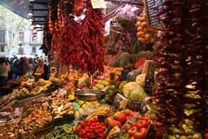 Mercado colorido de Mallorca