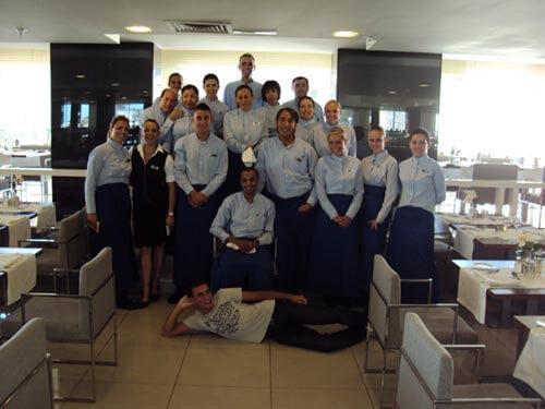 Squadra del ristorante dell'Hotel