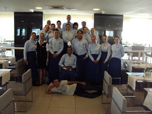 Equipe du restaurant de l'hôtel