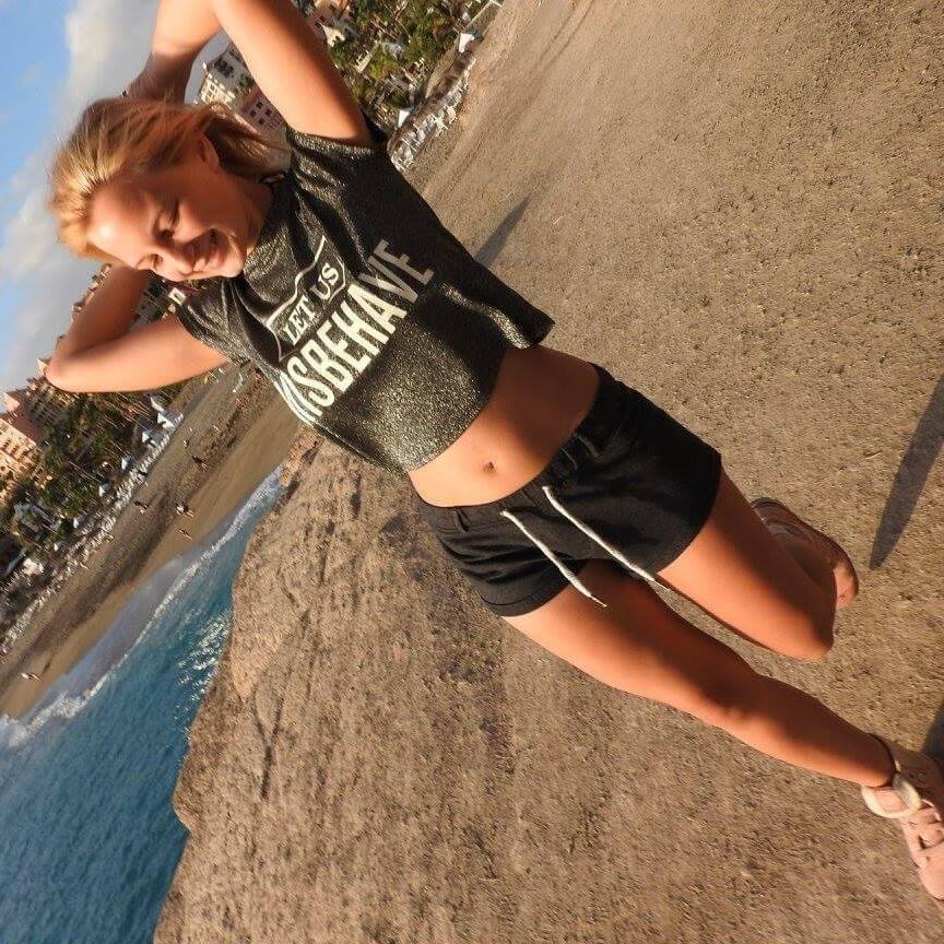 working in the beach of Tenerife