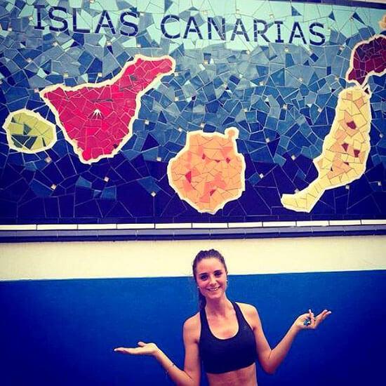 Chica en las Islas Canarias