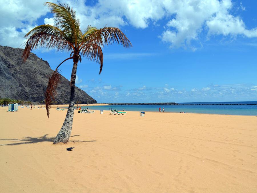 Tenerife Playa de las Teresitas-plage de sable de désert
