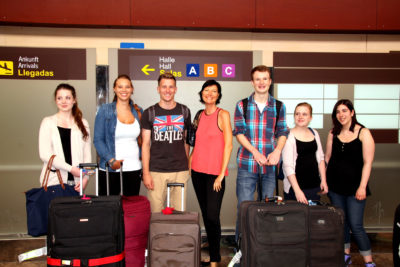 hotel internship abroad - meeting the Interns at the Airport