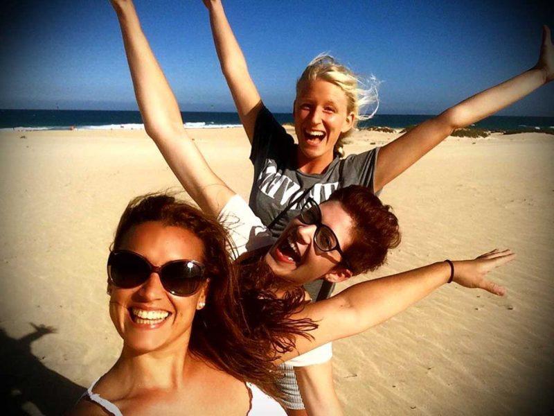 happy studentlife on the beach