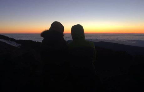 sunrise togther on teide Teneriffa Sonnenaufgang auf dem Teide in Teneriffa s-w-e-p